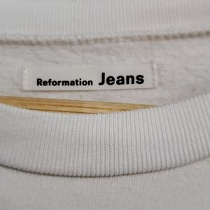 reformation jeans Tops - Cropped reformation jeans sweatshirt
